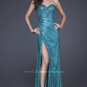 La Femme Sequin Dress